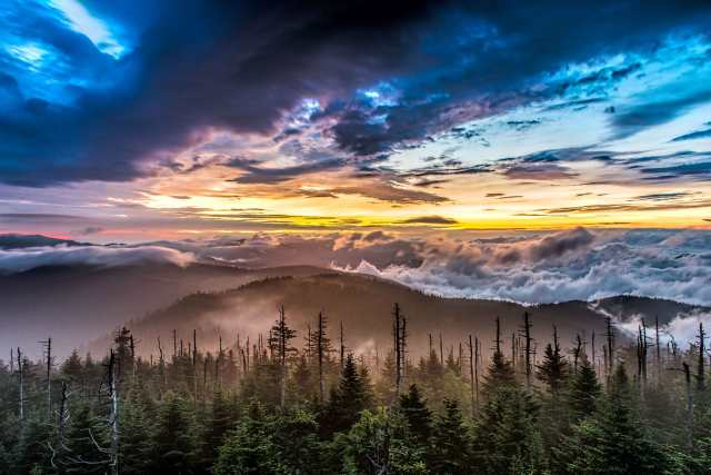 Sunrise-on-Clingmans-Dome